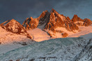 Chamonix maountains at sunset